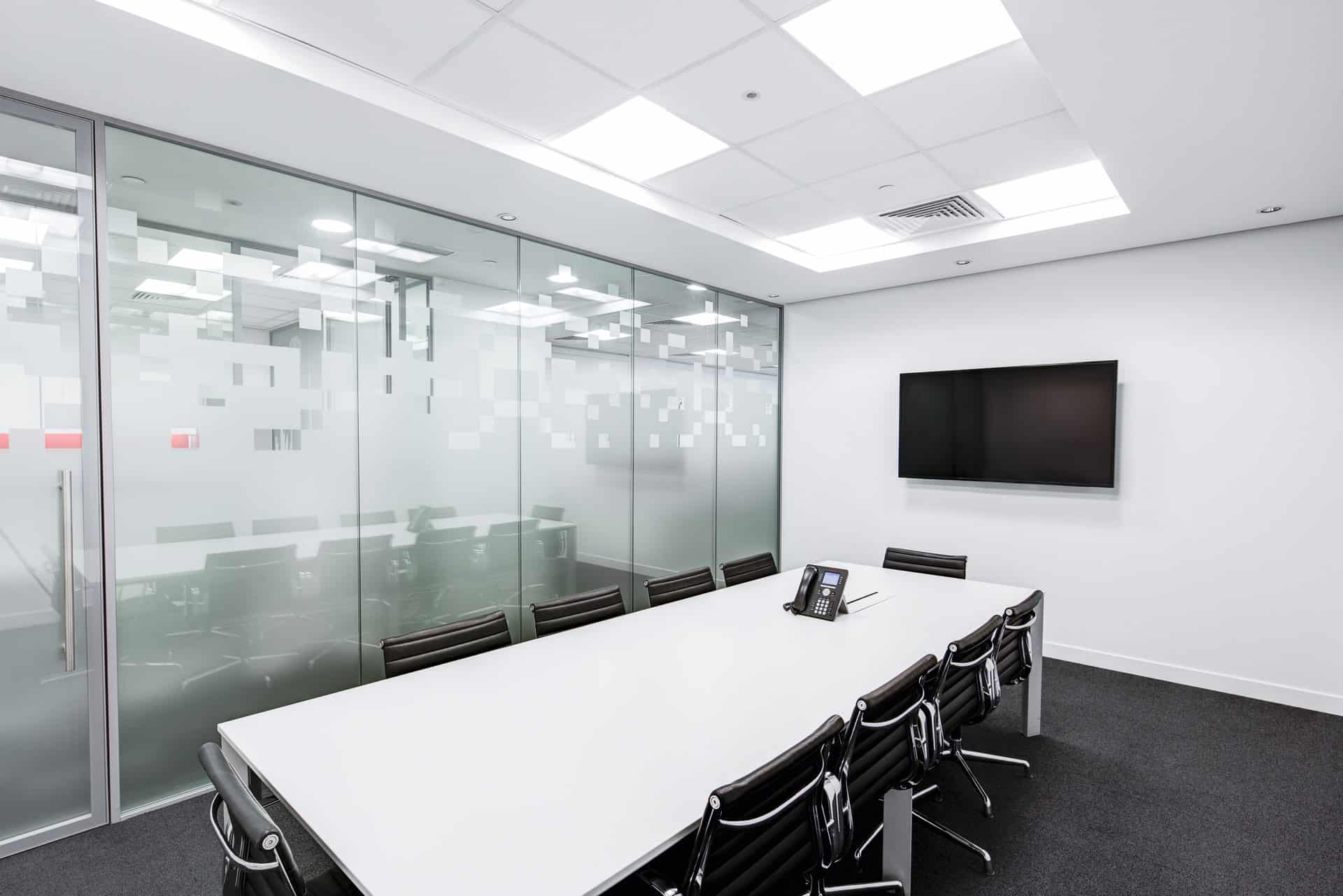 Meeting room with VoIP phone
