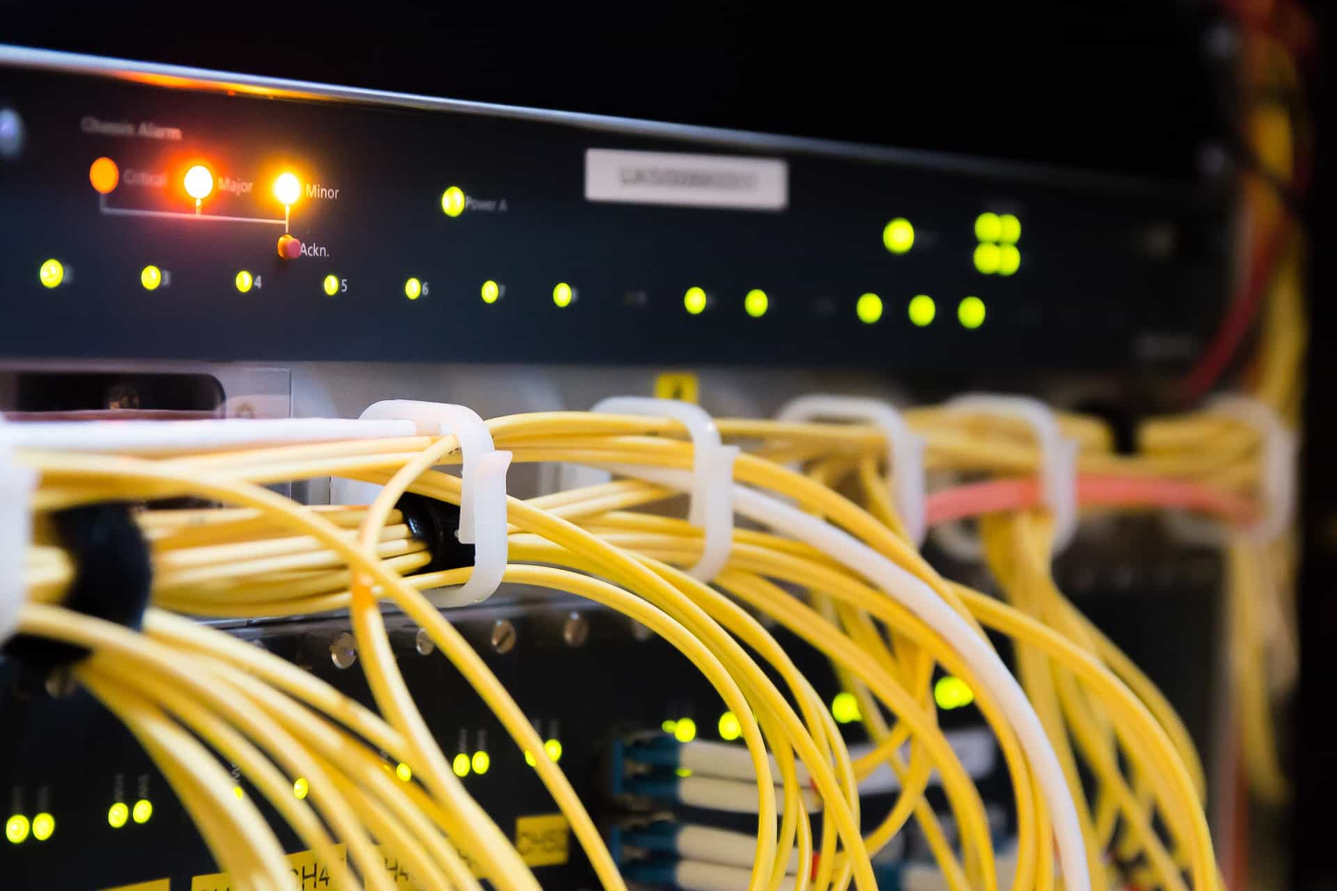 Close-up of yellow cabling