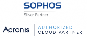 Sophos Silver Partner logo, Acronis Authorized Cloud Partner logo