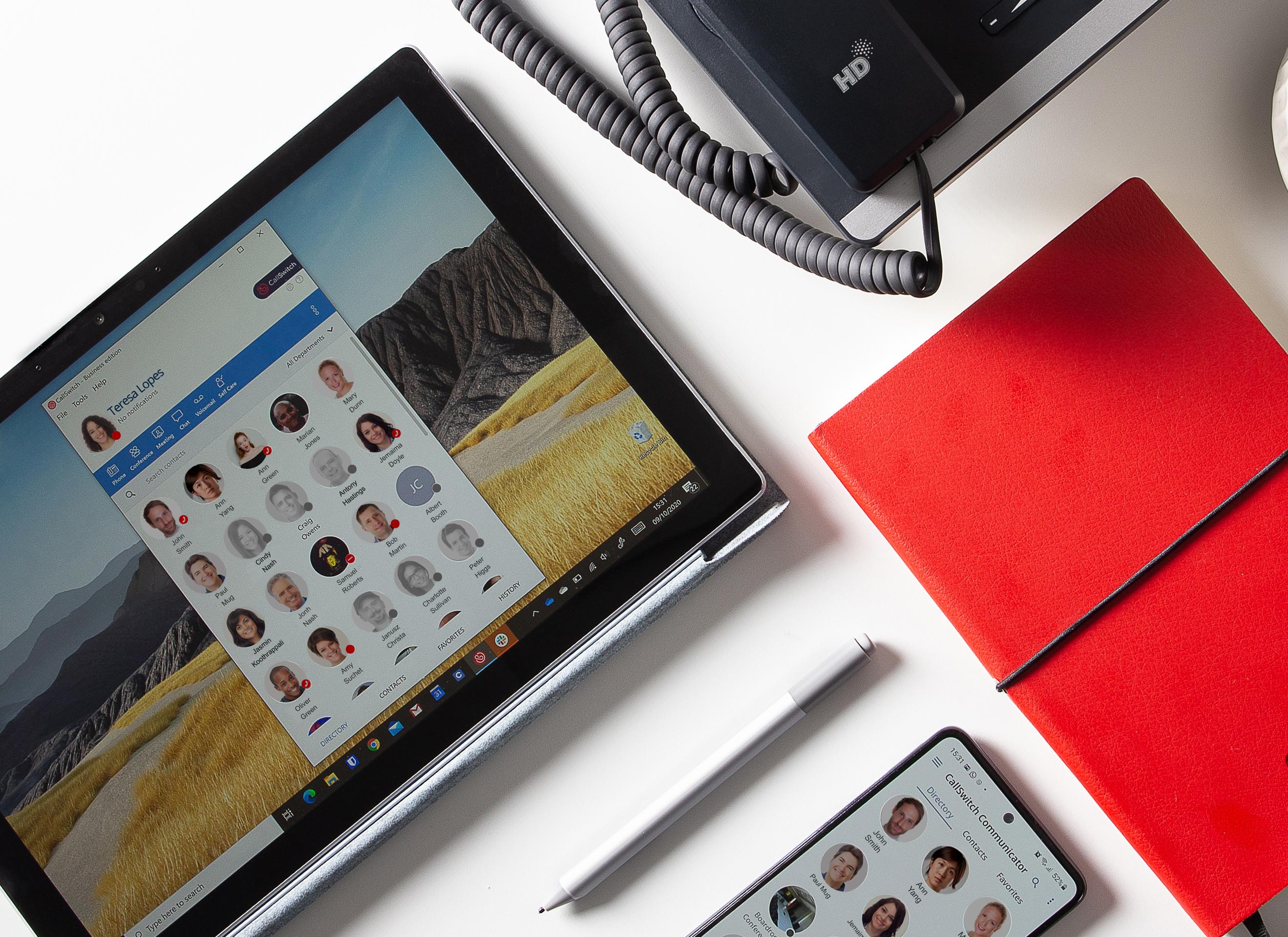 Wytel VoIP range - softphone, mobile app, desk phone